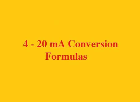 4-20 mA Conversion Formulas
