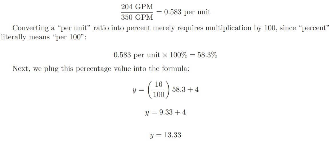 Flow Transmitter output formula