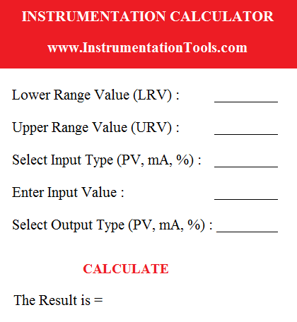 Instrumentation Calculator