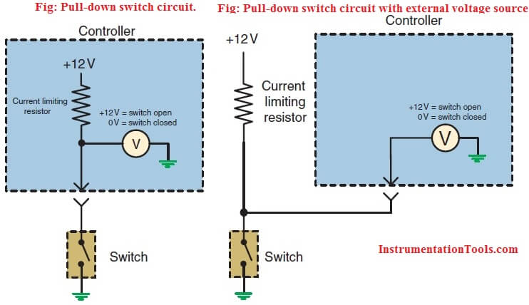 Pull-down switch circuit