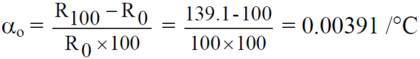 Calculate the Temperature Coefficient of RTD PT100