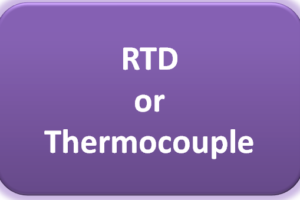 Select RTD or Thermocouple