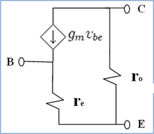 Small signal T model of transistor