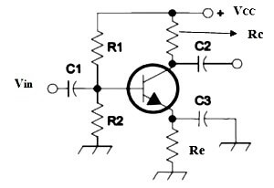 Transistor self bias circuit