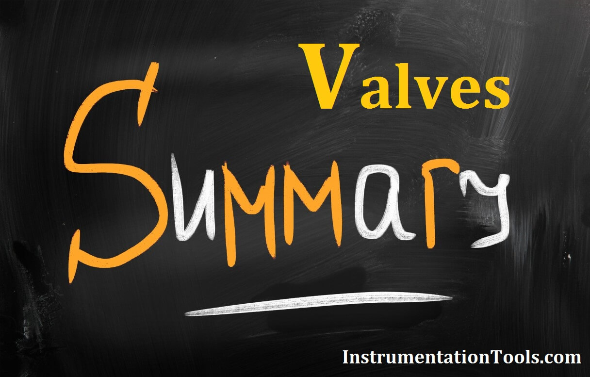 Summary of Valve Types Characteristics