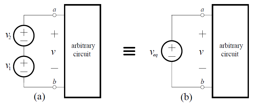 Voltage sources in parallel multiple What happens