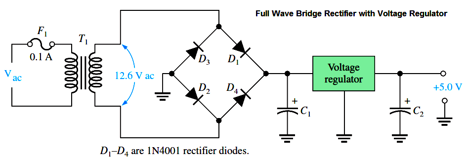 full-wave-bridge-rectifier-with-voltage-regulator