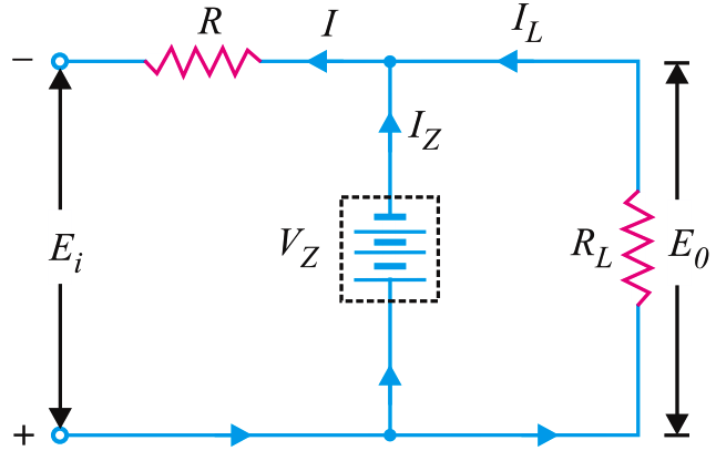 zener-equivalent-circuit-as-voltage-regulator
