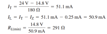 Zener Power Supply Equation