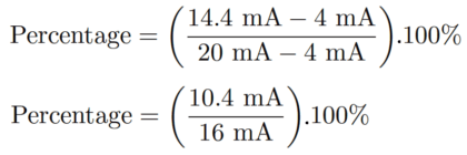 4-20mA to Percentage Calculation
