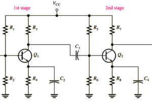 Capacitively Coupled Multistage Transistor Amplifier