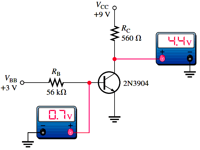 Troubleshooting a Biased Transistor