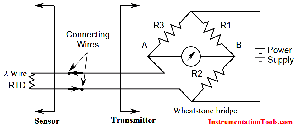 Two Wire RTD Wheatstone bridge Circuit