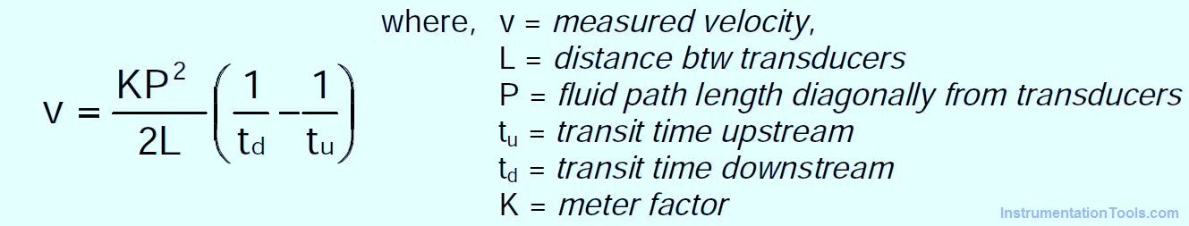 Ultrasonic Flowmeters Formula
