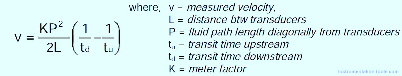 Ultrasonic Flow meters Formula