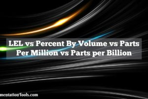 LEL vs Percent By Volume vs Parts Per Million vs Parts per Billion
