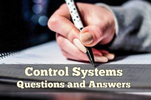 Top 100 Control Systems Objective Questions & Answers