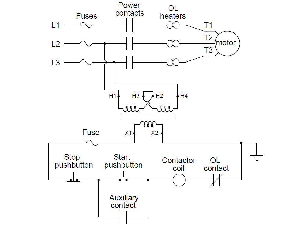 Motor Control Circuit Wiring on simple latch circuit diagram