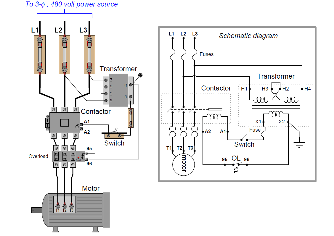 Motor Control Circuit Wiring on schematic block diagram