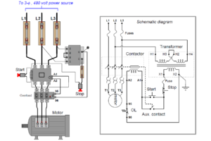simple latching motor control circuit