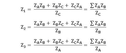 Star to Delta Conversion Formula