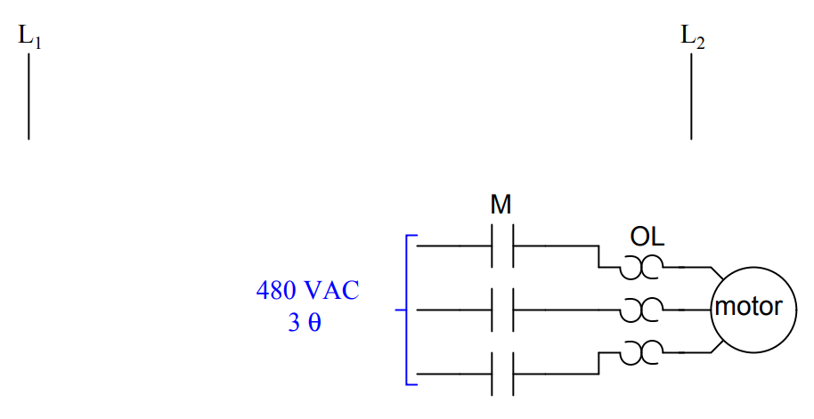 Draw Electric Motor Ladder Logic