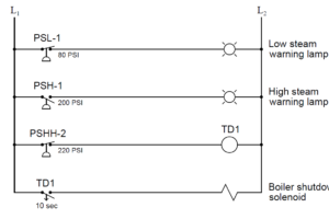pressure switches relay circuit