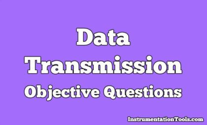 Data Transmission Objective Questions