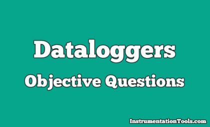 Data loggers Objective Questions