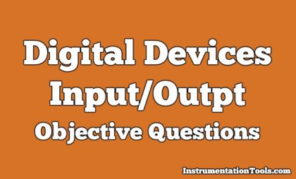Digital Input and Output Devices Objective Questions