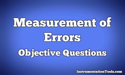 Measurement of Errors Objective Questions