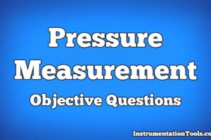 Pressure Measurement Objective Questions