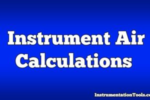 Instrument Air Calculations