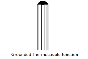 grounded thermocouple junction
