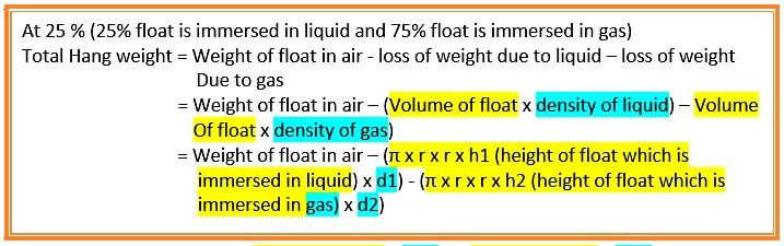 Interface Level Measurement Calculation Formula