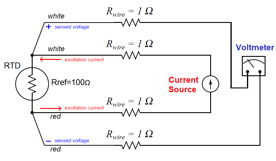Four Wire RTD Circuit