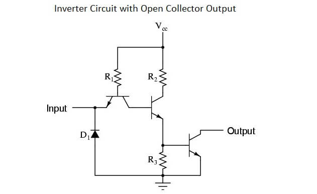 Inverter Circuit with Open Collector Output