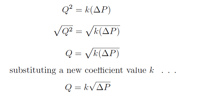 Orifice Flow Equation Solve