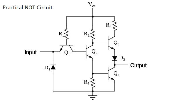 Practical NOT Circuit