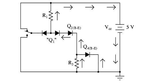 Two Back to Back Diodes for NOT Gate Operation