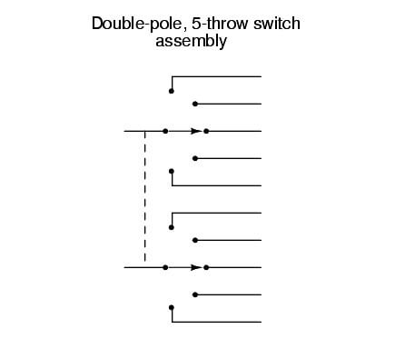 double-pole five throw switch