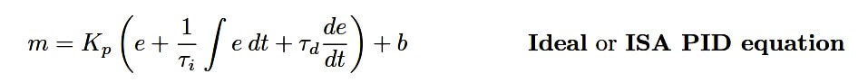 Ideal PID Controller Equation