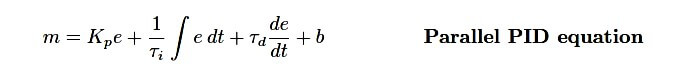 Parallel PID Equation