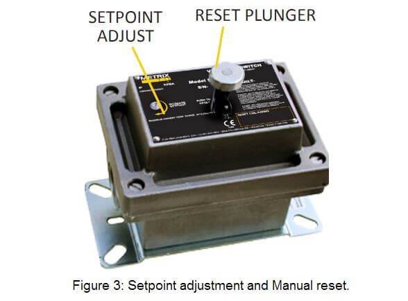 Mechanical vibration switches Setpoint