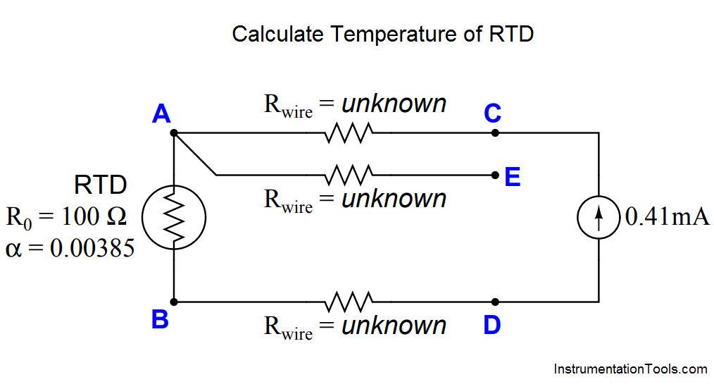 Calculate Temperature of Three Wire RTD