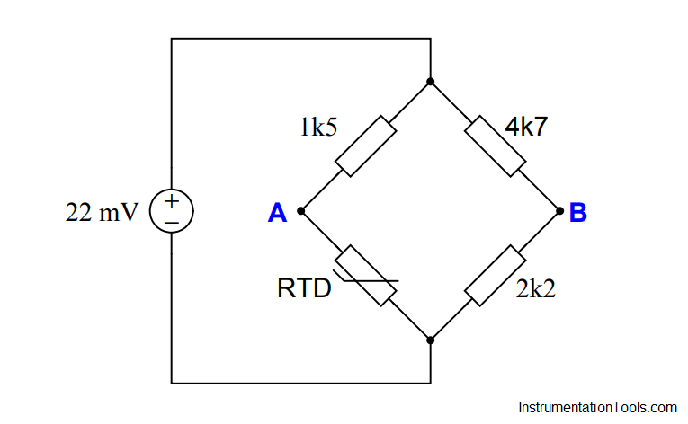 Calculate voltage across RTD