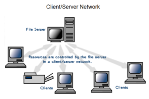 Client - server network system
