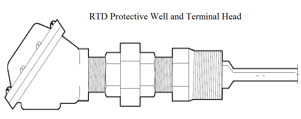 RTD Protective Well and Terminal Head