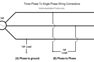 Three Phase To Single Phase Wiring Connections