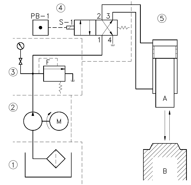 Typical Fluid Power Diagram